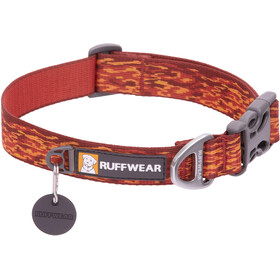 Ruffwear Flat Out Collar, ember distortion